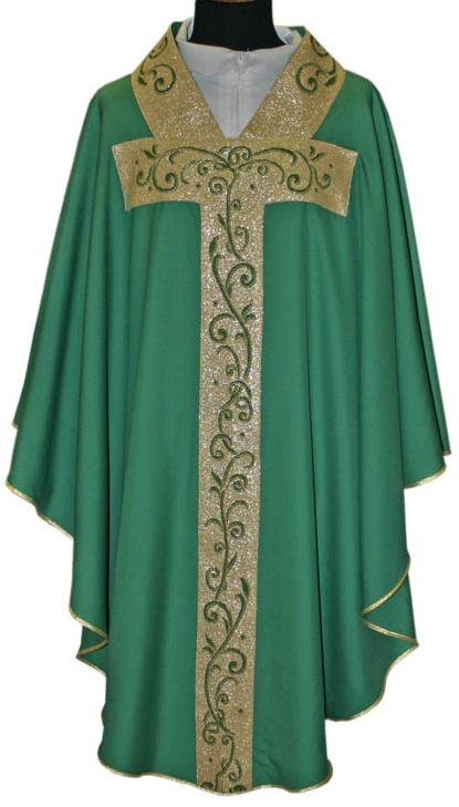 Chasuble Gold Band and Design