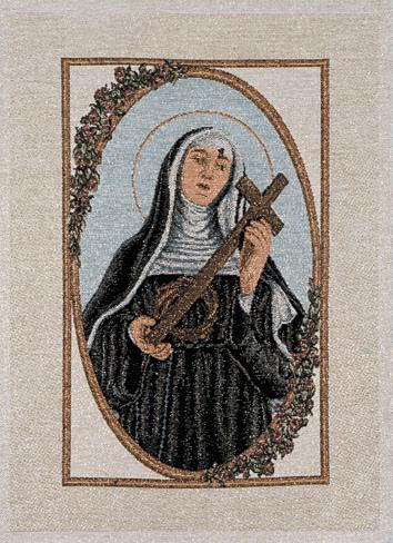 St. Rita (w/ cross & crown of thorns in hand)