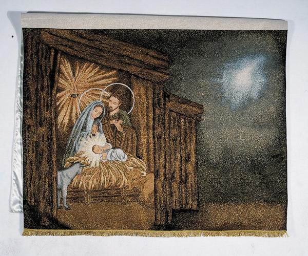 """The Nativity with Animals 75"""" x48"""""""