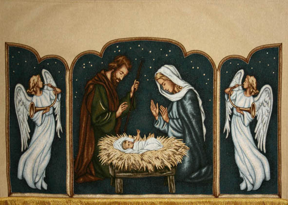 Nativity with Angels and Baby Jesus CHRISTMAS