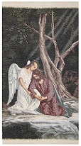 Jesus in the Garden with Angel