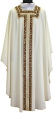 Chasuble with Mosaic and Gold Band