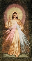 DIVINE MERCY DarkGreen Background