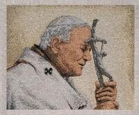 Pope John Paul II with cross
